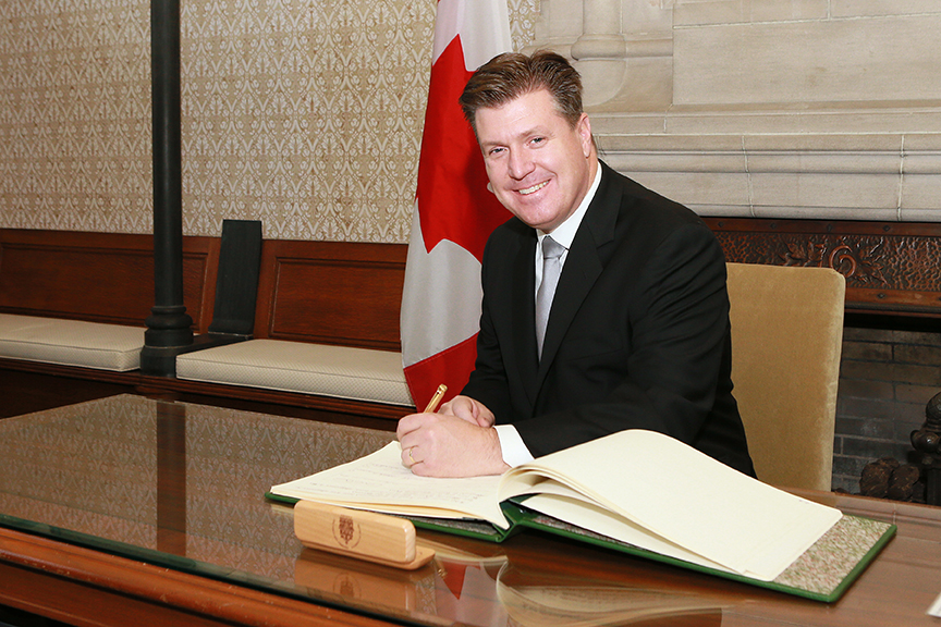Swearing in - Ottawa