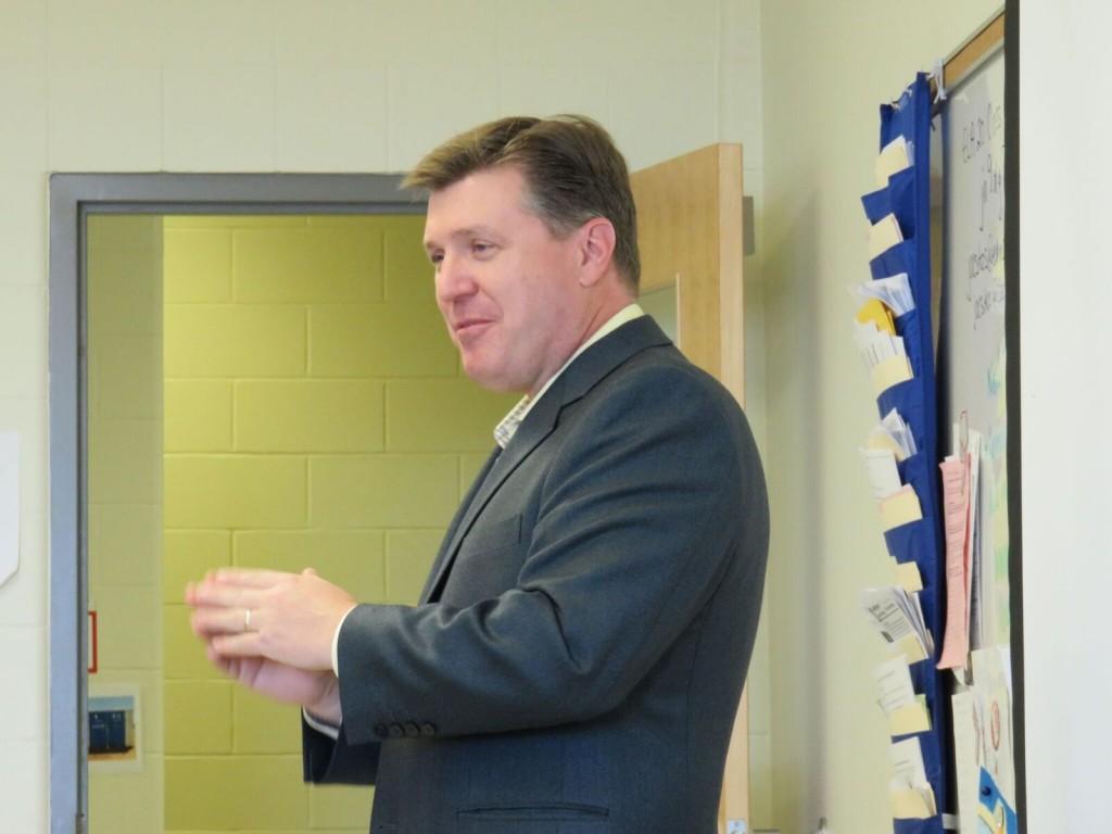 Robert Thirsk High School visit