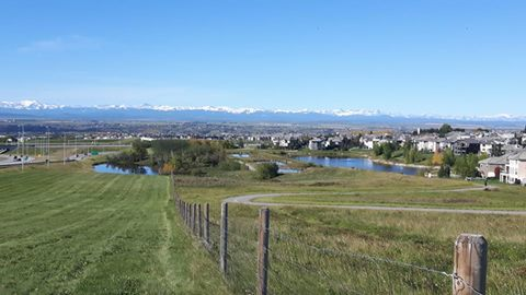 From Stoney Trail, southbound